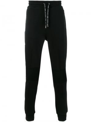Спортивные брюки с панельным дизайном Les Hommes Urban. Цвет: чёрный