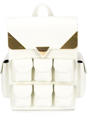 Рюкзак с накладными карманами Valas. Цвет: белый
