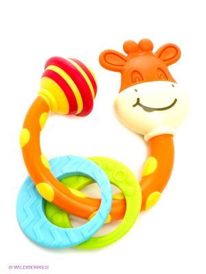Погремушка-прорезыватель жираф Сеня Tiny Love. Цвет: оранжевый