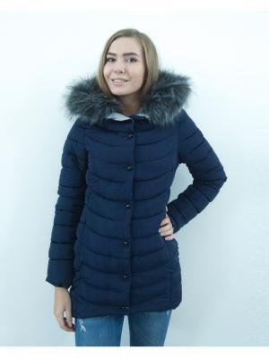 Куртка Ampir Style. Цвет: темно-синий