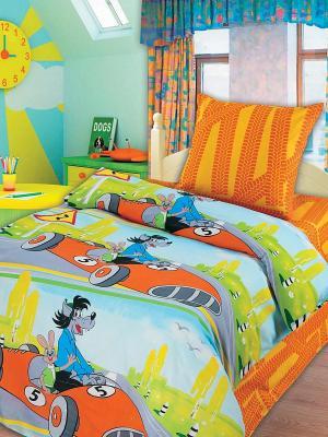 Комплект постельного белья Союзмультфильм. Цвет: голубой, оранжевый