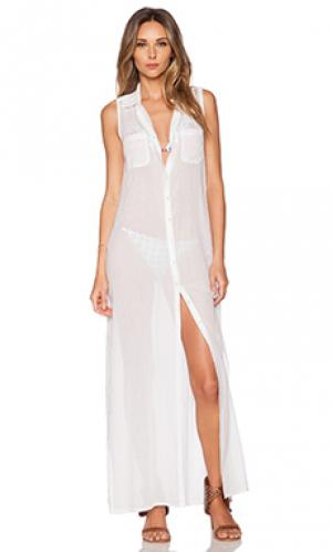 Макси платье OndadeMar. Цвет: белый