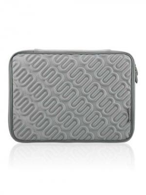Чехол для MacBook 15.4, Лого (цвет - бело-серебряный) Kawaii Factory. Цвет: серебристый