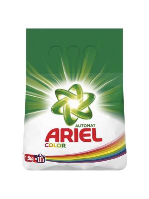 Стиральный порошок Color, автомат, 1.5кг Ariel. Цвет: белый, зеленый