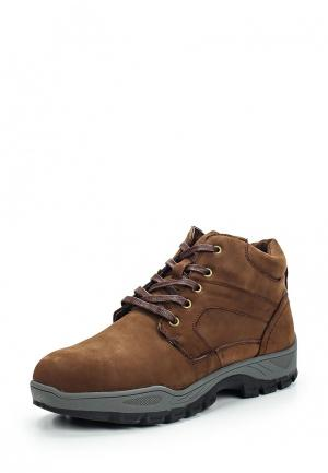 Ботинки трекинговые Tesoro. Цвет: коричневый