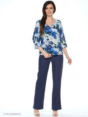 Блуза MARY MEA. Цвет: светло-голубой, синий, зеленый