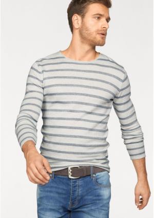 Пуловер JOHN DEVIN. Цвет: телесный меланжевый/зеленый, телесный меланжевый/синий