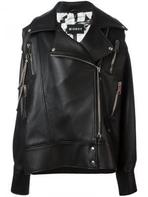 Байкерская куртка Desiress Misbhv. Цвет: чёрный
