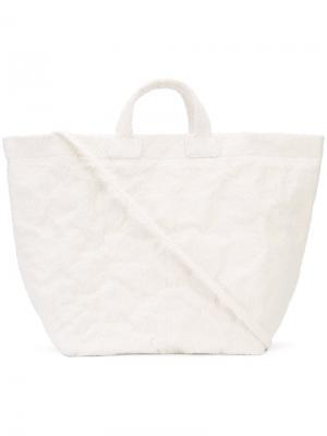Большая сумка-шоппер Zilla. Цвет: белый
