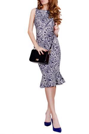 Платье FRANCESCA LUCINI. Цвет: синяя анталия