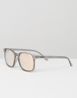 Quay Australia Квадратные солнцезащитные очки с зеркальными стеклами T. Цвет: серый
