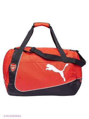 Сумка Arsenal Medium Bag Puma. Цвет: красный, черный
