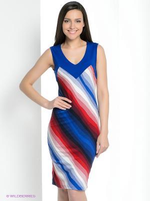 Платье Vaide. Цвет: синий, красный, белый, черный