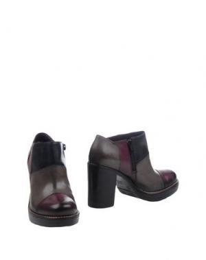 Ботинки DONNA PIÙ. Цвет: баклажанный