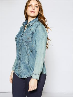 Блузка Fiorella Rubino. Цвет: темно-синий