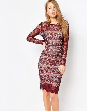 Body Frock Моделирующее облегающее платье из кружева Lisa. Цвет: красный
