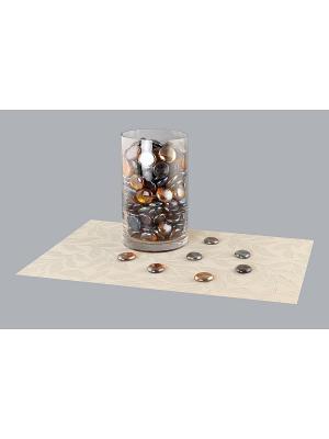 Набор декоративных камешков Ягоды EL CASA. Цвет: коричневый
