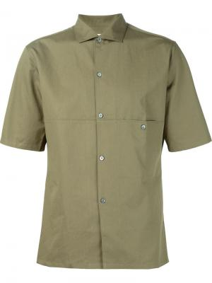 Рубашка с панельным дизайном Lemaire. Цвет: коричневый