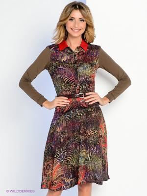 Платье Personage. Цвет: хаки, фиолетовый, красный, зеленый