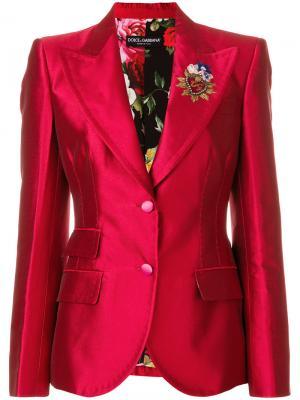 Блейзер Giacca с декором Dolce & Gabbana. Цвет: красный