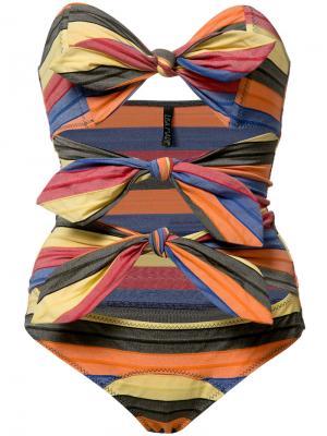Слитный купальник Tripple Poppy Maillot Lisa Marie Fernandez. Цвет: многоцветный