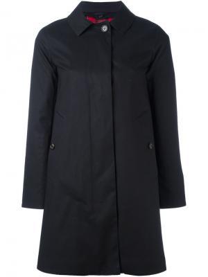 Пальто средней длины Sealup. Цвет: чёрный