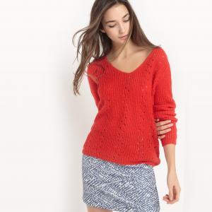 Пуловер из плотного трикотажа Pavel SUNCOO. Цвет: красный