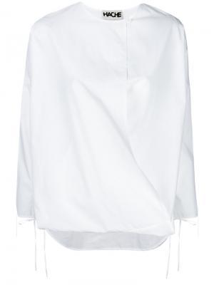 Блузка с запахом Hache. Цвет: белый