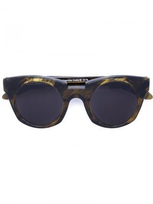 Солнцезащитные очки Mask U6 Kuboraum. Цвет: зелёный