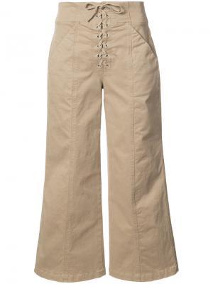 Укороченные брюки A.L.C.. Цвет: коричневый