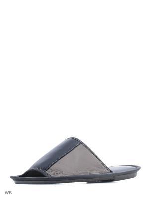 Тапочки-пантолеты PANTOLETTI. Цвет: синий, бежевый