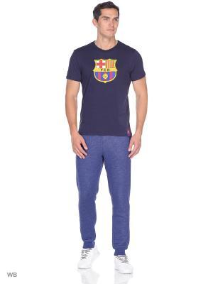 Футболка Barcelona Atributika & Club. Цвет: темно-синий