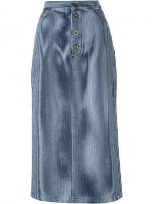 Юбка Malo Mih Jeans. Цвет: синий