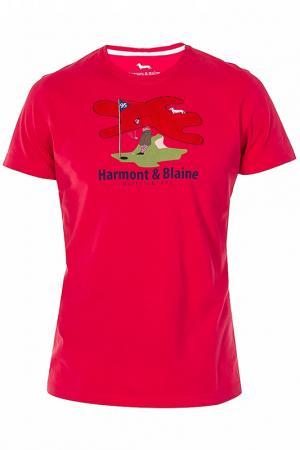 Футболка Harmont&Blaine. Цвет: красный