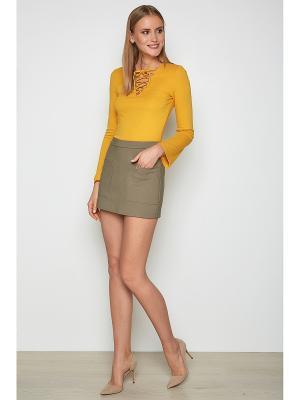 Блузка Concept Club. Цвет: желтый