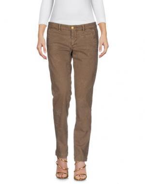 Джинсовые брюки MONOCROM. Цвет: хаки