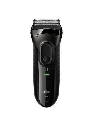 Электробритва Series 3 3020s  Black с дорожным чехлом Braun. Цвет: черный
