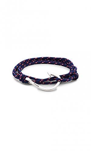Веревочный браслет с застёжкой на крючок Miansai. Цвет: синий