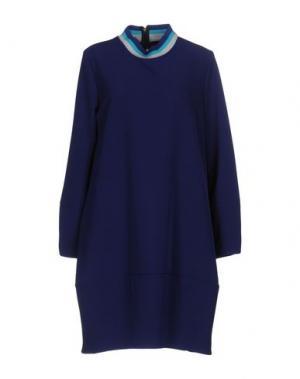 Короткое платье LA FABRIQUE. Цвет: темно-синий