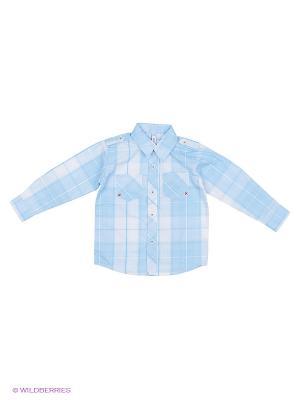 Рубашка PlayToday. Цвет: голубой