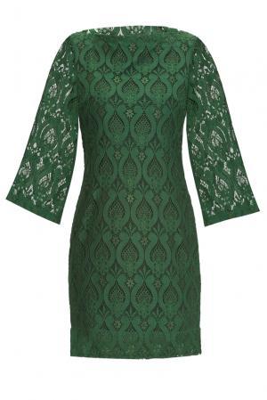 Кружевное платье из вискозы 160317 Msw Atelier. Цвет: зеленый