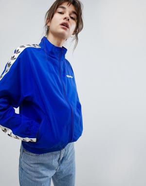 Adidas Originals Спортивная куртка с отделкой лентой Iconics. Цвет: синий