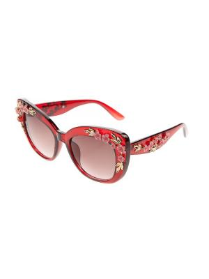Очки солнцезащитные Pretty Mania. Цвет: золотистый,красный,розовый