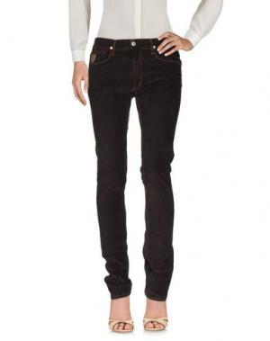 Повседневные брюки APRIL 77. Цвет: темно-коричневый