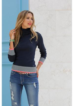 Пуловер AJC. Цвет: бордовый/темно-синий/серый меланжевый, серый меланжевый, синий, черный