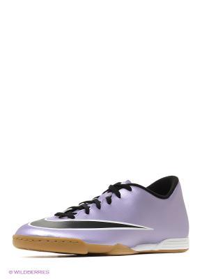 Бутсы MERCURIAL VORTEX II IC Nike. Цвет: фиолетовый