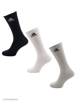 Носки Per Crew T 3pp Adidas. Цвет: черный