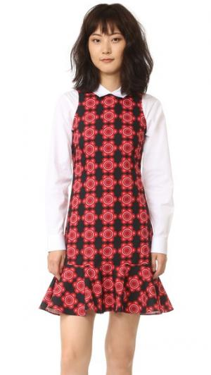 Свободное платье с принтом Holly Fulton. Цвет: красный цветочный