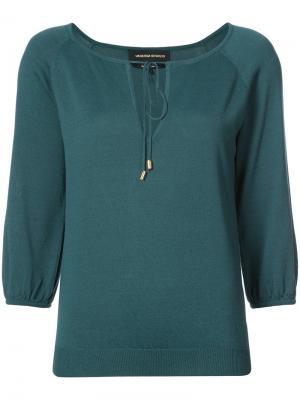Drwastring neck blouse Vanessa Seward. Цвет: синий
