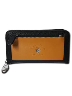 Кошелек Beverly Hills Polo Club. Цвет: черный, светло-коричневый